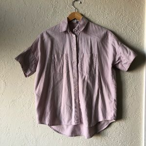 Madewell nude-pink button up top
